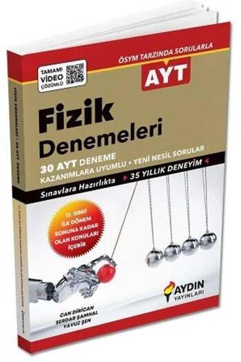 Aydın Yayınları - Aydın Yayınları AYT Fizik Tamamı Video Çözümlü Denemeleri