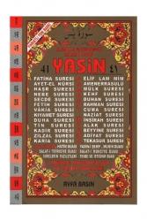 Ayfa Basın Yayın - Ayfa Basın Yayın 41 Yasin Orta Boy 2 Renk Fihristli Türkçe Okunuşları ve Açıklamaları