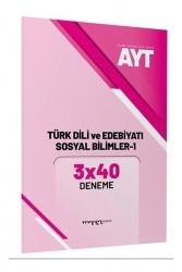 Marka Yayınları - AYT Türk Dili ve Edebiyatı Sosyal Bilimler 1 3x40 Deneme Marka Yayınları