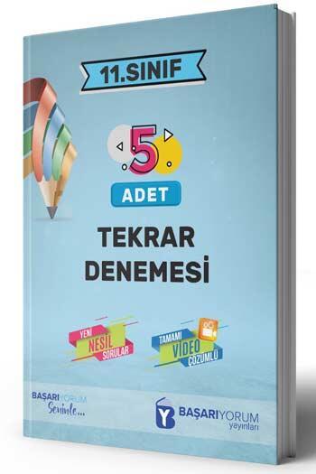 Başarıyorum Yayınları - Başarıyorum Yayınları 11. Sınıf 5 Adet Tekrar Denemesi