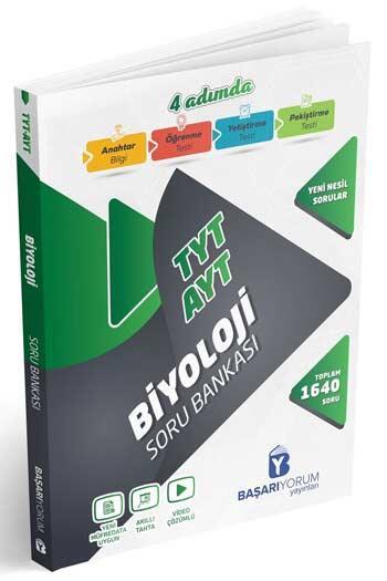 Başarıyorum Yayınları - Başarıyorum Yayınları TYT AYT Biyoloji 4 Adımda Soru Bankası