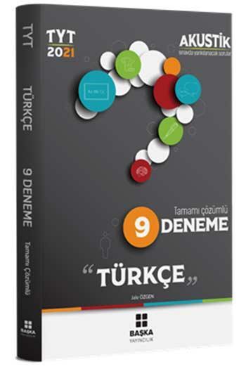 Başka Yayınları - Başka Yayıncılık 2021 TYT Türkçe Akustik Tamamı Çözümlü 9 Deneme