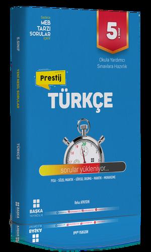 Başka Yayıncılık 5. Sınıf Türkçe Prestij Yeni Nesil Soru Bankası