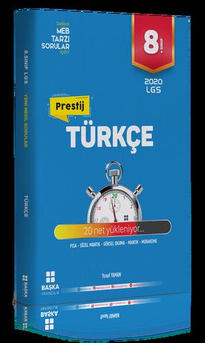 Başka Yayıncılık 8. Sınıf Türkçe Prestij Yeni Nesil Soru Bankası