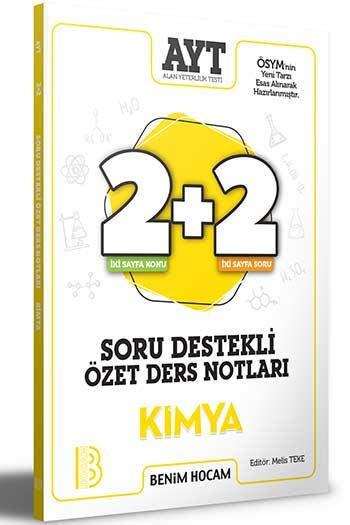 Benim Hocam Yayıncılık - Benim Hocam Yayınları 2021 AYT Kimya 2+2 Soru Destekli Özet Ders Notları