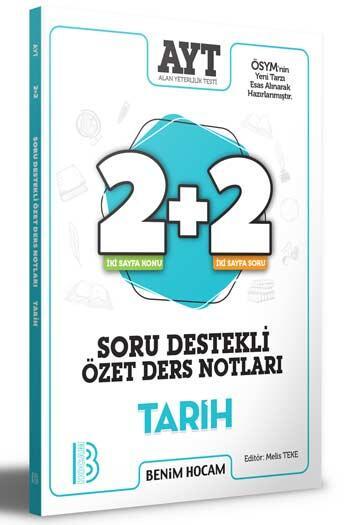 Benim Hocam Yayıncılık - Benim Hocam Yayınları 2021 AYT Tarih 2+2 Soru Destekli Özet Ders Notları