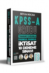 Benim Hocam Yayıncılık - Benim Hocam Yayınları 2021 KPSS A Grubu Tamamı Çözümlü İktisat 10 Deneme Sınavı