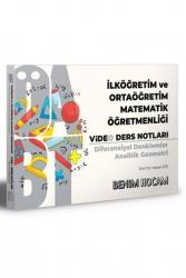 Benim Hocam Yayıncılık - Benim Hocam Yayınları 2021 ÖABT İlköğretim ve Ortaöğretim Matematik Öğretmenliği Diferansiyel Denklemler Analitik Geometri Video Ders Notları
