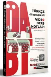Benim Hocam Yayıncılık - Benim Hocam Yayınları 2021 ÖABT Türkçe Öğretmenliği Video Ders Notları
