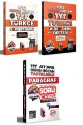 Benim Hocam Yayıncılık - Benim Hocam Yayınları 2022 Türkçe Video Ders Defteri Soru Bankası ve Paragraf Soru Bankası Seti