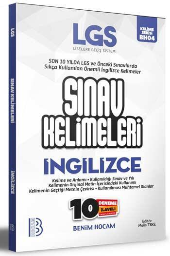 Benim Hocam Yayıncılık - Benim Hocam Yayınları LGS İngilizce Sınav Kelimeleri 10 Deneme İlaveli
