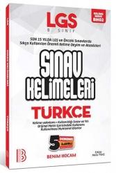 Benim Hocam Yayıncılık - Benim Hocam Yayınları LGS Türkçe Sınav Kelimeleri 5 Deneme İlaveli