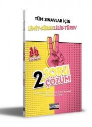 Benim Hocam Yayıncılık - Benim Hocam Yayınları Tüm Sınavlar İçin Limit-Süreklilik-Türev 2 Soru 2 Çözüm Fasikülü