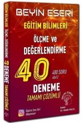 Beyin Eseri Yayınları - Beyin Eseri Yayınları KPSS Eğitim Bilimleri Ölçme ve Değerlendirme Çözümlü 40 Deneme