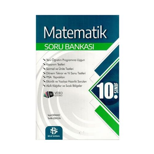 Bilgi Sarmal Yayınları 10. Sınıf Matematik Soru Bankası