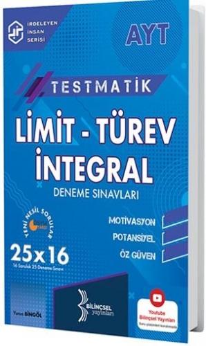Bilinçsel Yayınları 2021 AYT Testmatik Limit Türev İntegral Deneme Sınavları