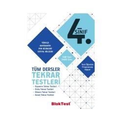 Bloktest Yayınları - Bloktest Yayınları 4. Sınıf Tüm Dersler Tekrar Testleri