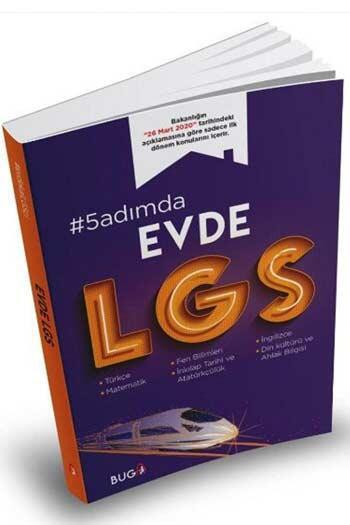 Buga Yayınları - Buga Yayınları 8. Sınıf LGS 5 Adımda Evde Konu Denemeleri