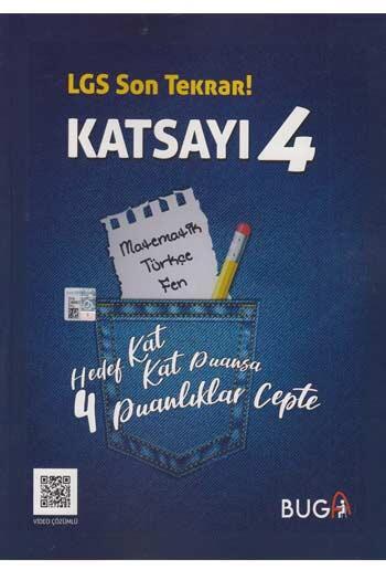 Buga Yayınları - Buga Yayınları 8. Sınıf LGS Son Tekrar Katsayı 4 Soru Bankası