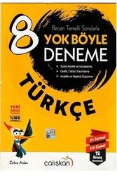 Çalışkan Yayınları - Çalışkan Yayınları 8. Sınıf Türkçe Yok Böyle Deneme