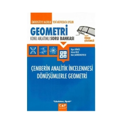 Çap Yayınları - Çap Yayınları Üniversiteye Hazırlık Geometri Çemberin Analitik İncelenmesi Dönüşümlerle Geometri Konu Anlatımlı Soru Bankası