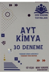 Çöz Kazan Yayınları - Çöz Kazan Yayınları AYT Kimya 30 Deneme