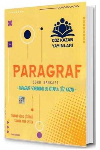 Çöz Kazan Yayınları Paragraf Tamamı Video Çözümlü Soru Bankası