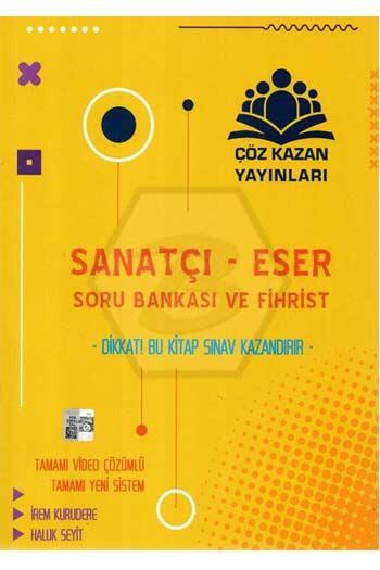 Çöz Kazan Yayınları - Çöz Kazan Yayınları Sanatçı Eser Soru Bankası ve Fihrist