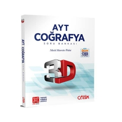 Çözüm Yayınları - Çözüm Yayınları AYT Coğrafya 3D Soru Bankası