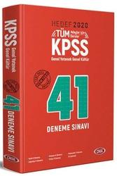 Data Yayınları - Data Yayınları 2020 KPSS Genel Yetenek Genel Kültür 41 Deneme Sınavı