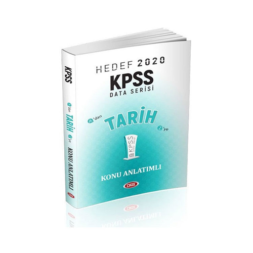 Data Yayınları 2020 KPSS Tarih Konu Anlatımlı