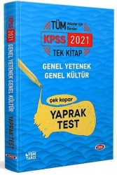 Data Yayınları - Data Yayınları 2021 KPSS Genel Yetenek Genel Kültür Çek Kopar Yaprak Test
