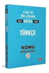 Data Yayınları - Data Yayınları 2022 KPSS Lise Ön Lisans Türkçe Konu Anlatımlı