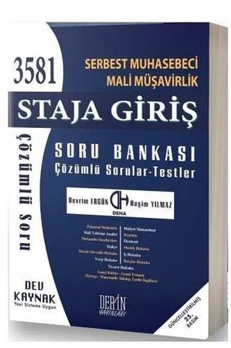 Deha Derin Yayınları 2020 SMMM Staja Giriş Çözümlü Soru Bankası