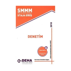Deha Yayınları - Deha Yayınları 2018 SMMM Staja Giriş Denetim Konu Anlatımlı