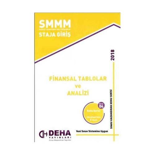 Deha Yayınları 2018 SMMM Staja Giriş Finansal Tablolar ve Analizi Konu Anlatımlı