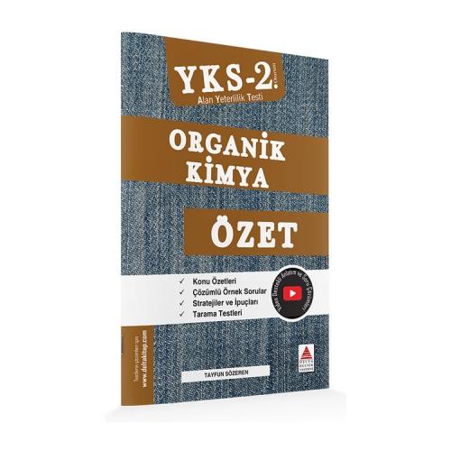 Delta Kültür Yayınları AYT Organik Kimya Özet