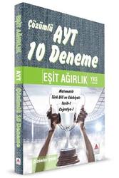 Delta Kültür Yayınları - Delta Kültür Yayınları YKS 2. Oturum AYT Eşit Ağırlık Çözümlü 10 Deneme