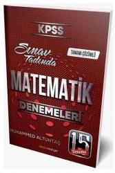 Destek Kariyer Yayınları - Destek Kariyer Yayınları 2021 KPSS Matematik Çözümlü 15 Deneme