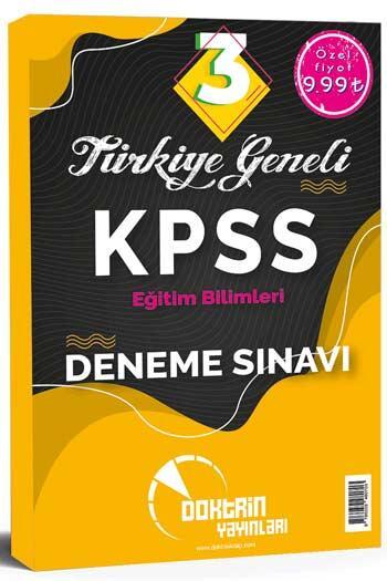 Doktrin Yayınları - Doktrin Yayınları 2021 KPSS Eğitim Bilimleri Türkiye Geneli 3 Deneme Sınavı