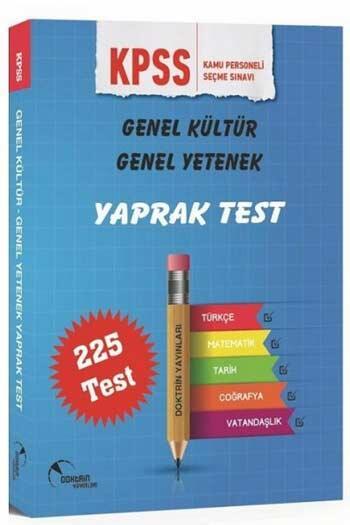 Doktrin Yayınları - Doktrin Yayınları 2021 KPSS Genel Yetenek Genel Kültür Yaprak Test