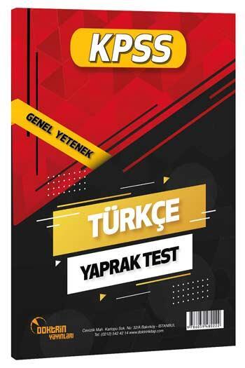 Doktrin Yayınları - Doktrin Yayınları 2021 KPSS Türkçe Yaprak Test