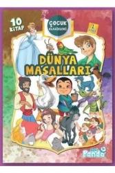Mavi Panda Yayınları - Dünya Masallar 1. Sınıf Çocuk Klasikleri Seti 10 Kitap Mavi Panda Yayınları