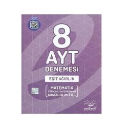 Endemik Yayınları - Endemik Yayınları AYT Eşit Ağırlık 8 Deneme