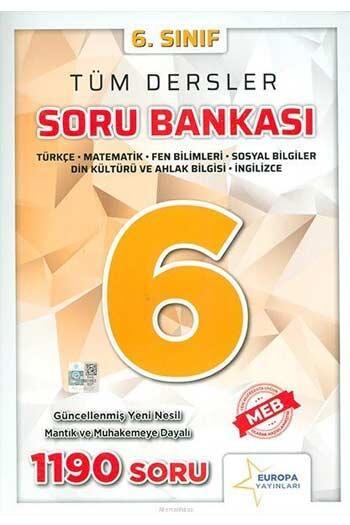 Europa Yayınları - Europa Yayınları 6. Sınıf Tüm Dersler Soru Bankası