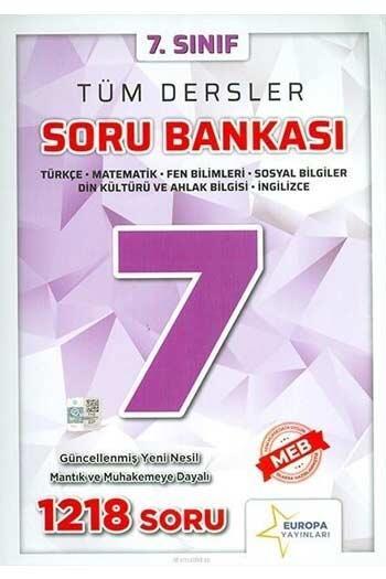 Europa Yayınları - Europa Yayınları 7. Sınıf Tüm Dersler Soru Bankası