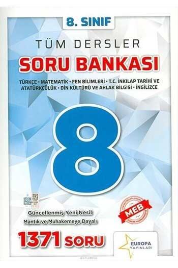 Europa Yayınları - Europa Yayınları 8. Sınıf Tüm Dersler Soru Bankası