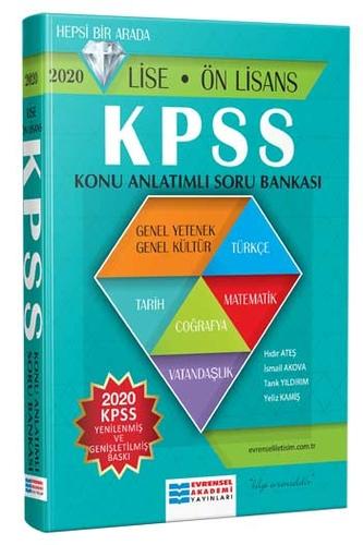 Evrensel İletişim Yayınları 2020 KPSS Lise Ön Lisans Konu Anlatımlı Soru Bankası
