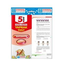 Evrensel İletişim Yayınları - Evrensel İletişim Yayınları 5. Sınıf Matematik Konu Özetli Yaprak Test