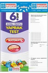 Evrensel İletişim Yayınları - Evrensel İletişim Yayınları 6. Sınıf Matematik Konu Özetli Yaprak Test